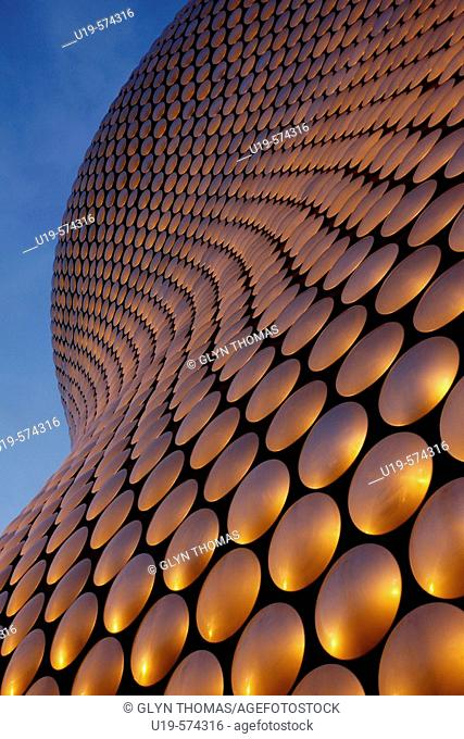 Selfridges building at the Bullring in Birmingham at sunset, West Midlands, England, UK
