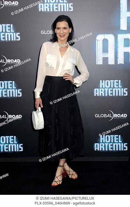 "Perrey Reeves 05/19/2018 The Los Angeles premiere of """"Hotel Artemis"""" held at the Regency Bruin Theatre in Los Angeles, CA Photo by Izumi Hasegawa / HNW /..."