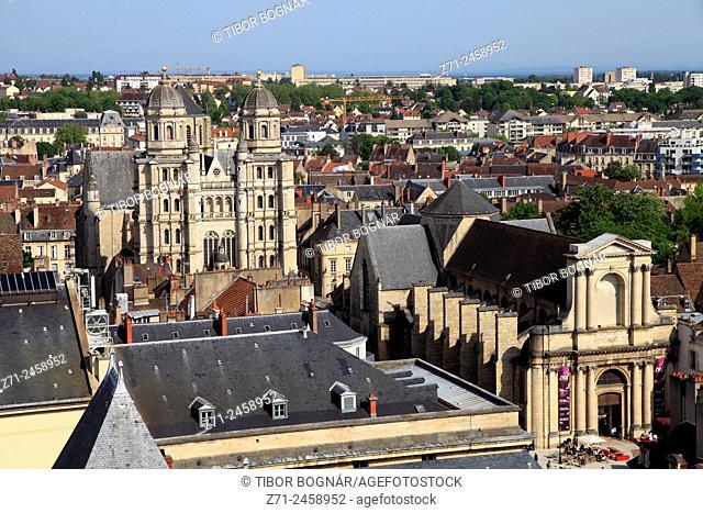 France, Bourgogne, Dijon, St-Michel Church, La Nef, aerial view