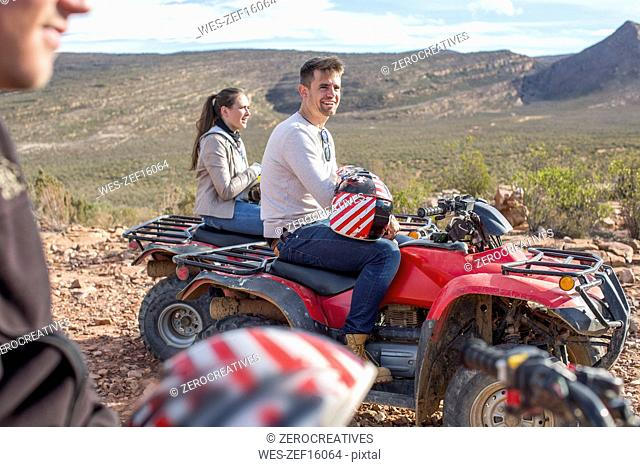 Group of people quad biking in South Africa