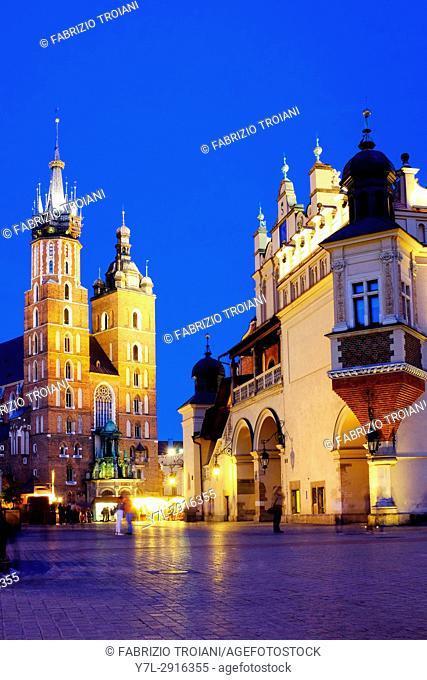 St. Mary's Basilica and Cloth hall, Krakow