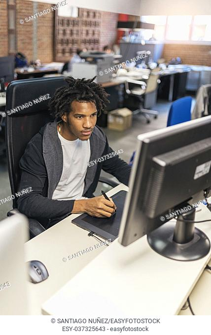 Businessman working in office work. Business Concept
