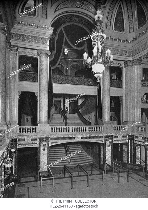 Entrance lobby, the Chicago Theatre, Chicago, Illinois, 1925. Artist: Unknown