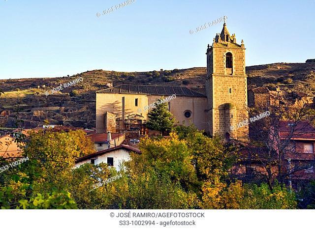 Iglesia en Santibañez de Ayllón  Provincia de Segovia  Castilla León  España