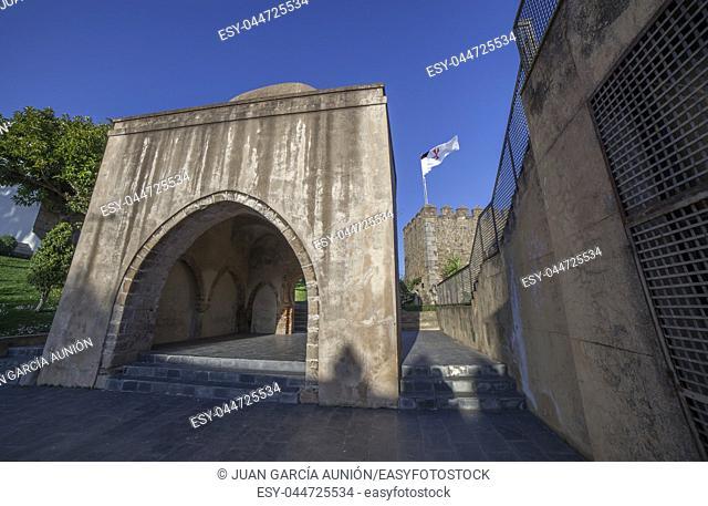 El Morabito building or Marabout, Last muslim remains at Templar Fortress, Jerez de los Caballeros, Spain
