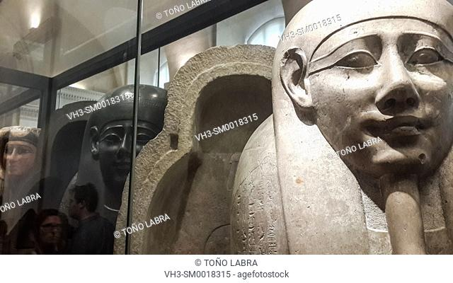 Sarcophagus. Egyptian Pharaonic collection. Louvre Museum. Paris. France