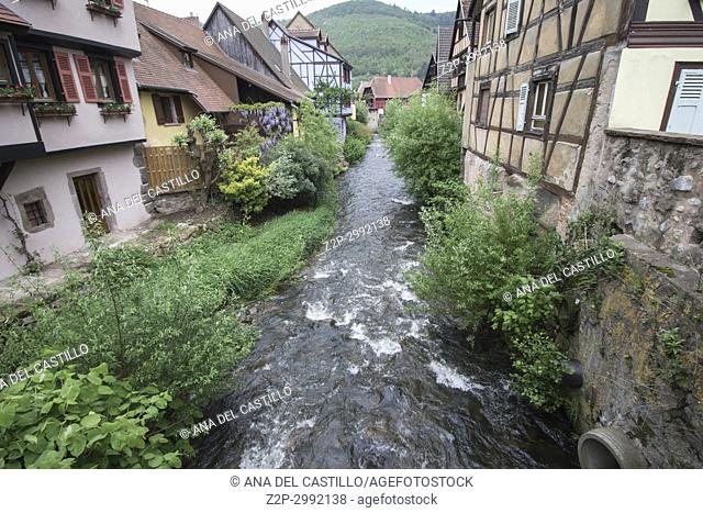 Kaysersberg, Alsace on May 13, 2016. :The famous idyllic Wine Village of Kaysersberg in Alsace near Colmar,France