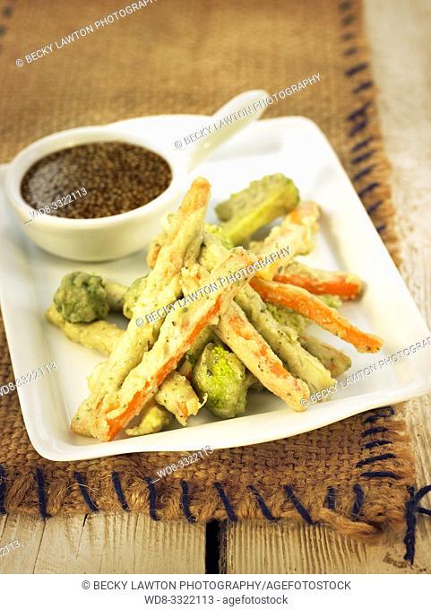tempura de verduras - raw