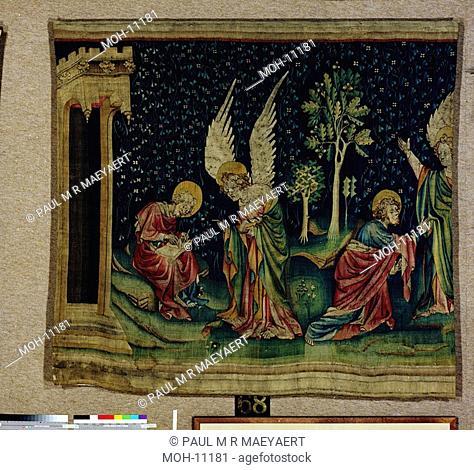 La Tenture de l'Apocalypse d'Angers, Saint Jean et l'ange 1,54 x 2,01m, heiliger Johannes und Engel