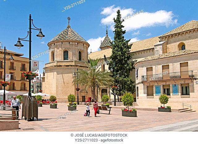 Parish church of San Mateo - 16th century and Plaza of San Miguel, Lucena, Cordoba province, Region of Andalusia, Spain, Europe