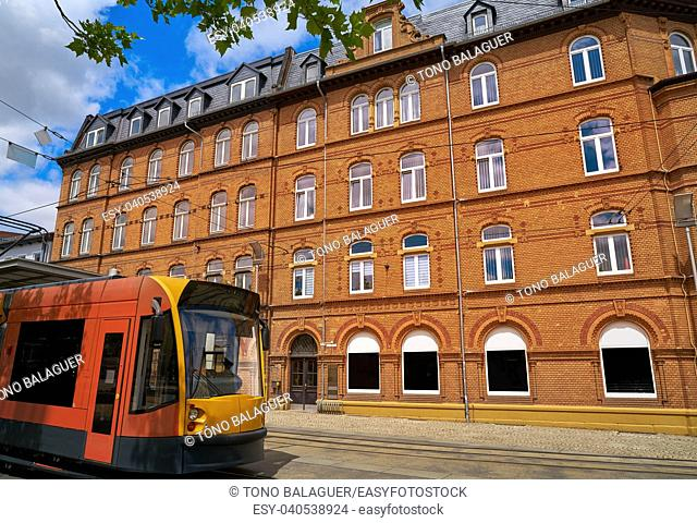 Nordhausen downtown facades in Harz Thuringia of Germany