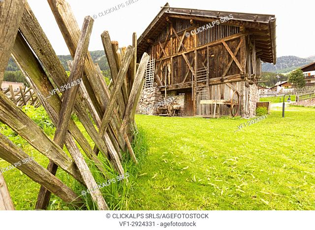 the typical old country house in Sarntal, Bolzano province, South Tyrol, Trentino Alto Adige, Italy