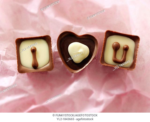 ' I love you ' chocolates