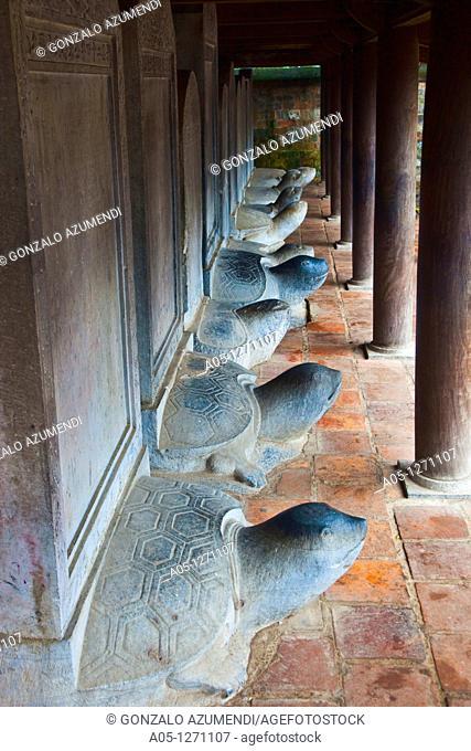 Memorial of some goods students of Van Mieu Literature Temple. Hanoi. Vietnam