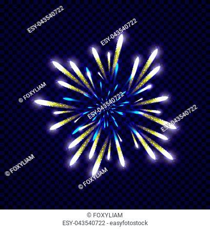 Festive colorfu firework design. Holiday background. Vector illustration