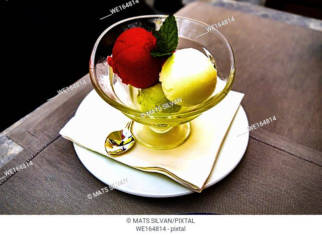 Ice Cream in Bowl in Ascona, Switzerland