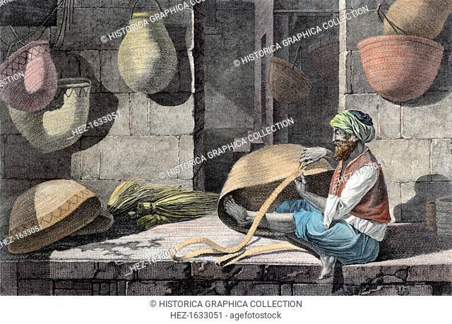 'The Basket Maker', c1798 (1822). Egyptian basket weaver. Illustration from Vol II, Arts and Trades of Descriptions of Egypt
