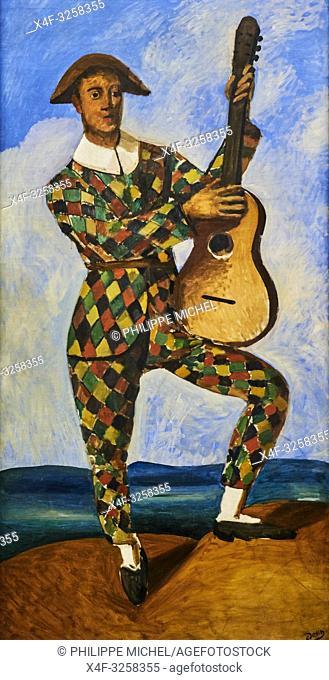 France, Paris, les Tuileries, museum of Orangerie, André Derain, Arlequin à la guitare, 1924