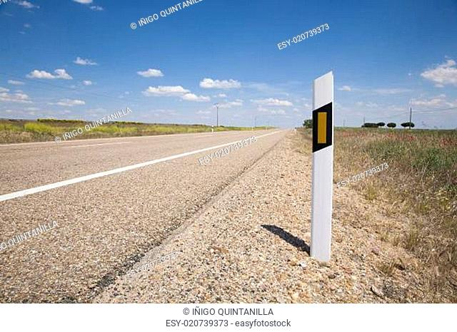 sign marking road