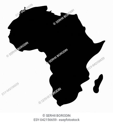 Map of Africa icon black color vector illustration flat style simple image