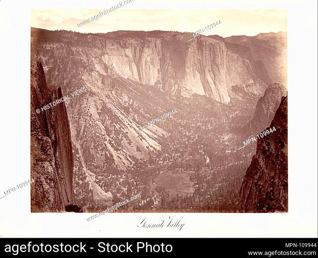 Yosemite Valley. Artist: Attributed to Carleton E. Watkins (American, 1829-1916); Date: ca. 1872, printed ca. 1876; Medium: Albumen silver print from glass...