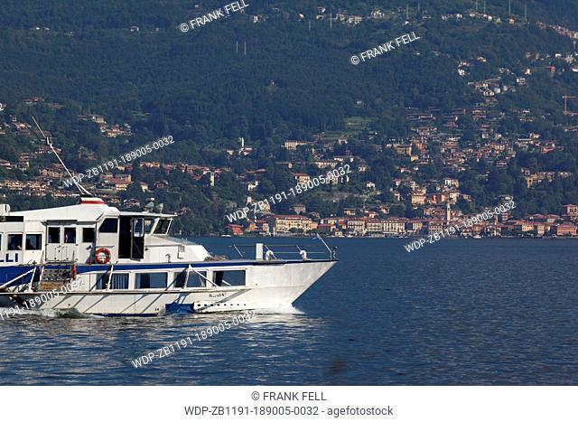 Italy, Lombardy, Lake Como, Bellagio, Boat on Lake