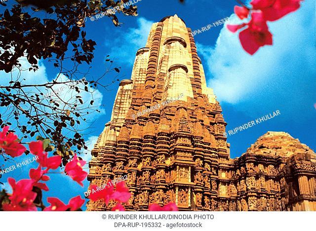 Kandariya mahadeva temple, khajuraho, madhya pradesh, india, asia