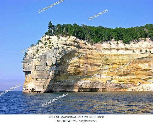 Pictured Rocks National Lakeshore at Munising Michigan Upper Peninsula on Lake Superior. USA
