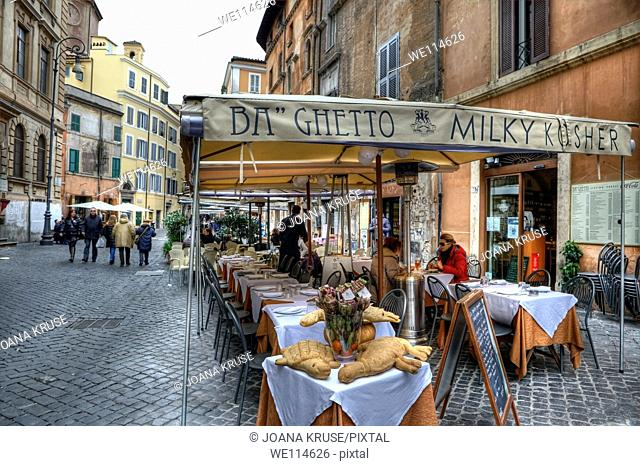 The Roman Ghetto was a special area in Rome, where the city's Jews were obliged to live  The Roman Ghetto had at the beginning of the 19th Century about 10