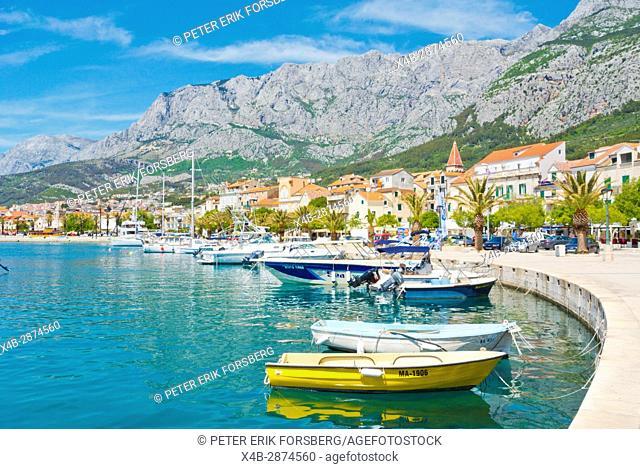 Marineta, seaside promenade, Makarska, Dalmatia, Croatia