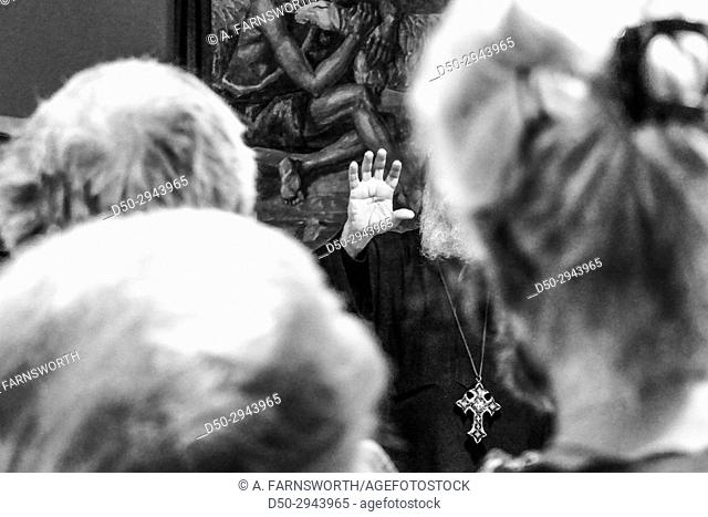 STOCKHOLM, SWEDEN Egyptian Coptic Bishop Thomas giving a talk in Stockholm