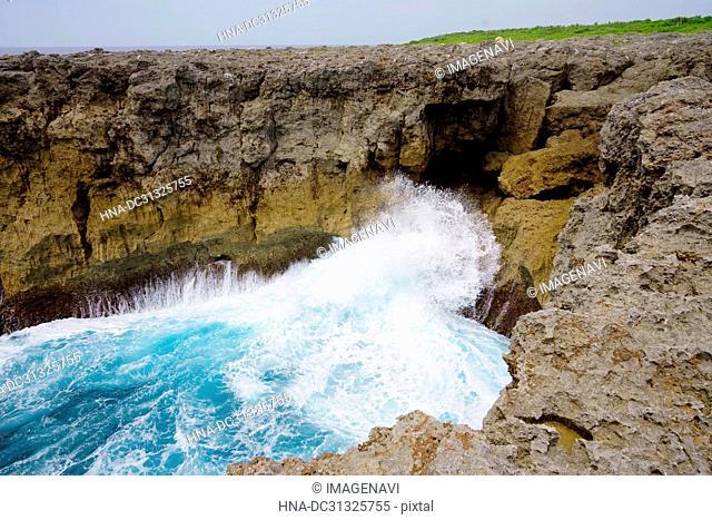 Cliff in Hateruma Island, Okinawa Prefecture, Japan