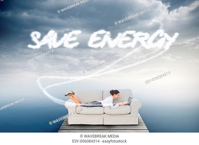 Save energy against cloudy sky over ocean
