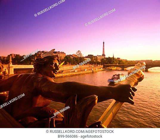 Pont Alexandre Iii, River Seine, Paris, France