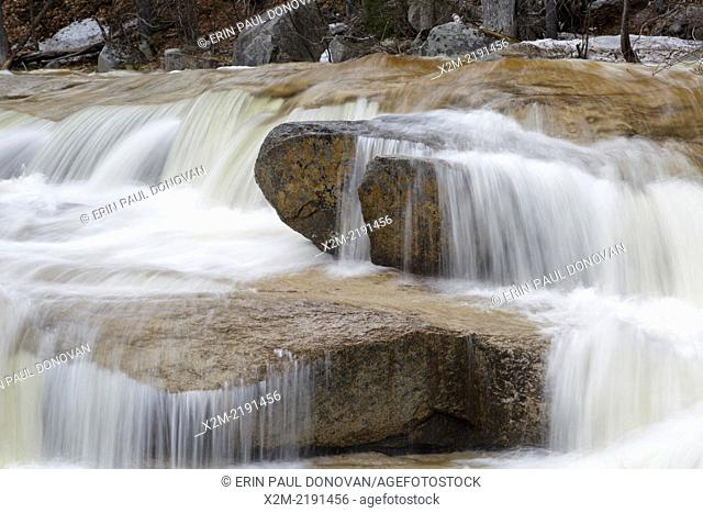 Swift River in the White Mountain National Forest of New Hampshire USA during the spring months