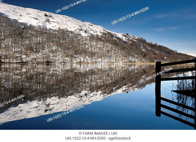 Winter Reflections on Brotherswater in the English Lake District. (Photo by: Wayne Hutchinson/Farm Images/UIG)
