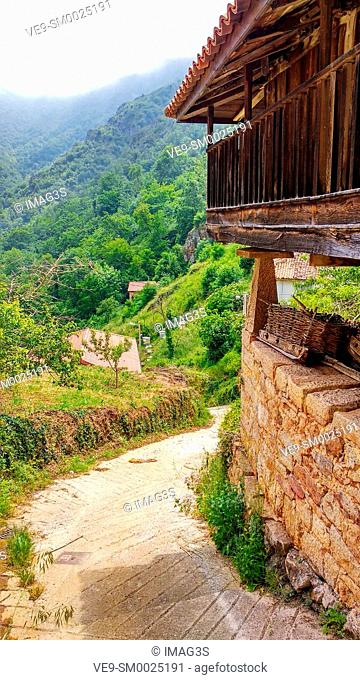 Horreo, Pineda village, Somiedo Nature Park and Biosphere Reserve, Asturias, Spain