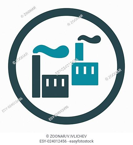 Industry flat soft blue colors rounded glyph icon