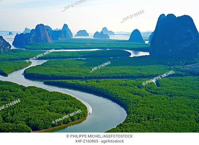 Thailand, Phang Nga Bay, Ao Phang Nga national parc