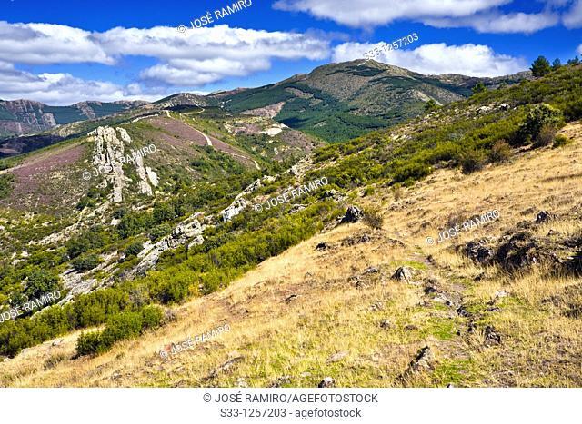 The Tornera peak in the Sierra Norte Puebla de la Sierra Madrid Spain