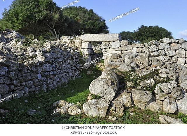 Torre d'en Galmes a Talayotic site on the island of Menorca, Balearic Islands, Spain, Europe
