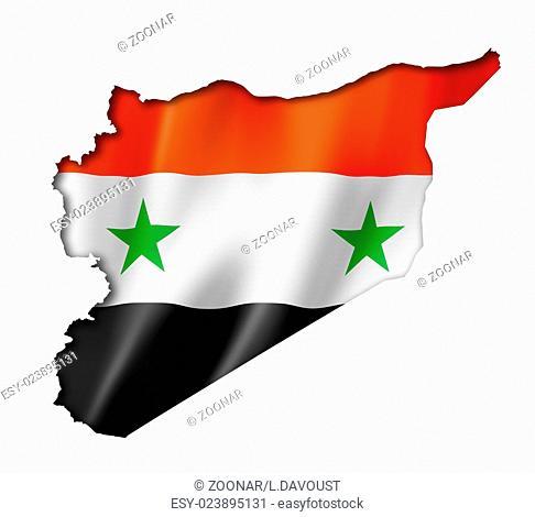 Syrian flag map