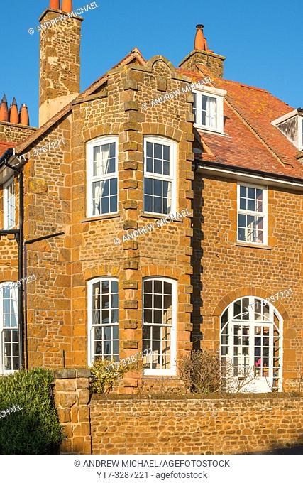 Carstone houses, Hunstanton, Norfolk, England, UK