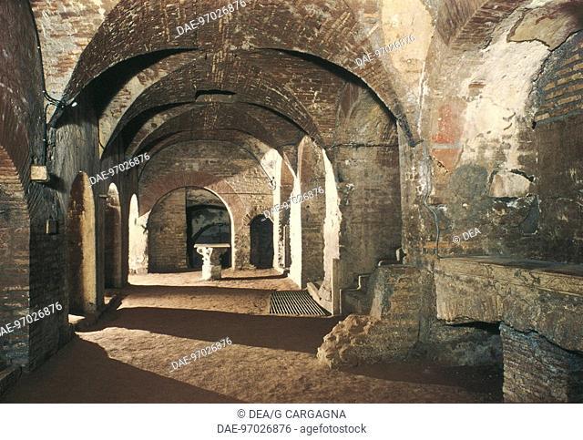 Cryptoporticus, Catacomb of Priscilla (3rd century), Rome, Lazio, Italy