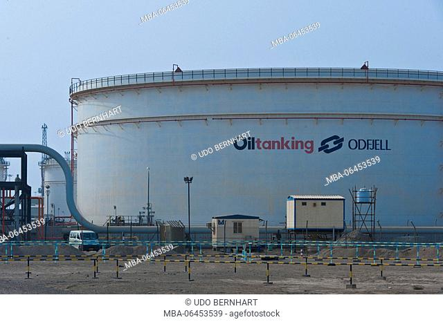 Arabia, Arabian peninsula, Sultanate of Oman, Muscat, oil tank