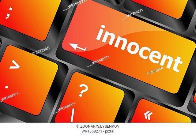 innocent word on computer pc keyboard key