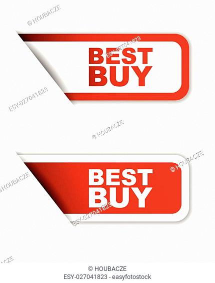This is red set vector paper stickers best buy