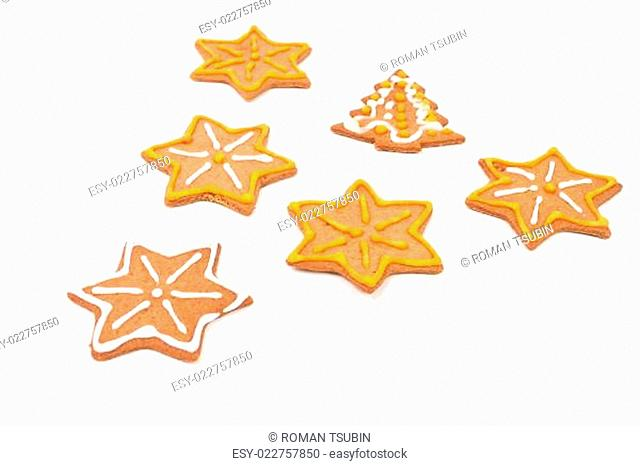 christmas cookies isolated on a white
