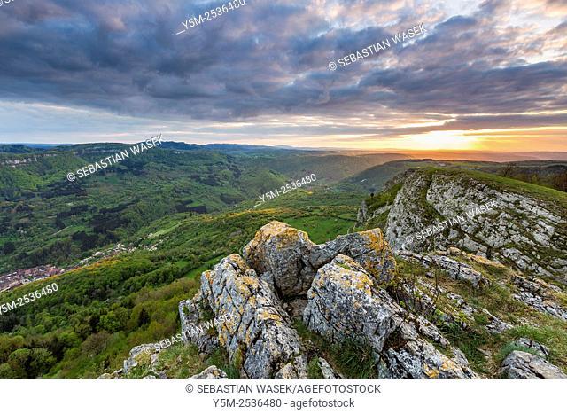 La vallée de la Loue, Mouthier-Haute-Pierre, Doubs, Franche-Comté, France, Europe