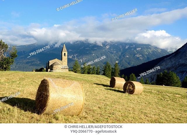 Eglise St-Pierre Extravache & Vanoise National Park Haute Maurienne Savoie France